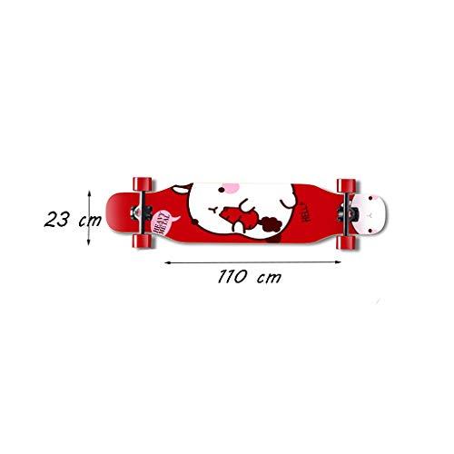HXGL-Skateboard Skateboard Long Board Professional Board Four Wheeler Dance Board Brush Street Beginner Girl Male Generation Person Teen (Color : Red) by HXGL-Skateboard (Image #6)