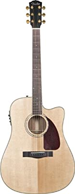 Fender CD-320ASCE Dreadnought Cutaway Acoustic-Electric Guitar, Rosewood Fretboard - Natural