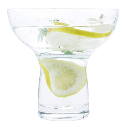 Margarita Glasses Stemless XL Large Thick Solid Clear Glass, 16 Ounces (4)