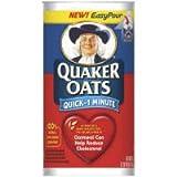Quaker Oats Quick 1 Minute Oatmeal 42 oz (Pack of 12)
