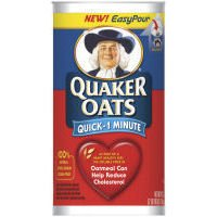 Quaker Oats Quick 1 Minute Oatmeal 42 oz (Pack of 12) by Quaker