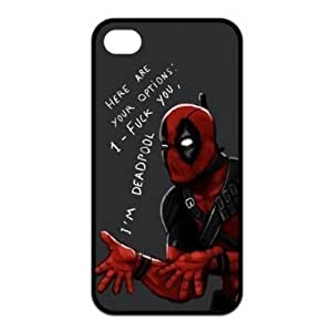 Superheroes Deadpool cool black silicone case for iPhone 4 / 4S