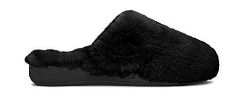4be5b4c9bf Vionic Women's Indulge Gemma Plush Slipper - Ladies Adjustable Slipper with Concealed  Orthotic Arch Support Black