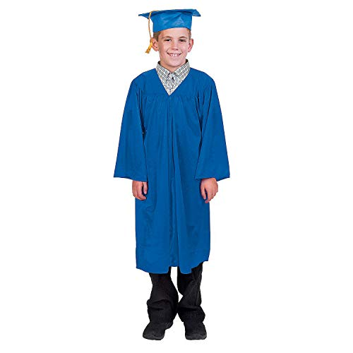 Fun Express Blue Elementary Graduation Cap and Gown Set (2 -