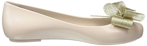 Melissa Space Love Ribbon Bow, Bailarinas para Mujer Beige (nude Gold Contrast)