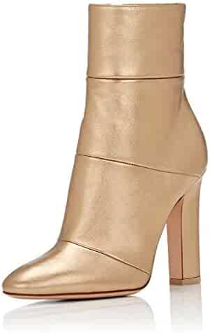 d6fdf5234 FSJ Women Retro Chunky High Heel Ankle Boots Pointed Toe Booties with Side  Zipper Size 4