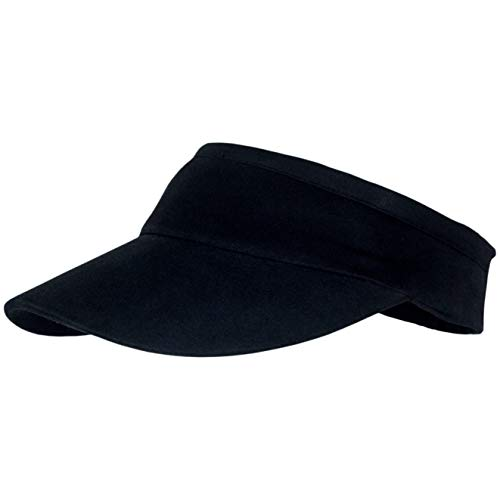 Comfortable Sun Visors for Women & Men, Cotton Elastic Tennis Cap Black