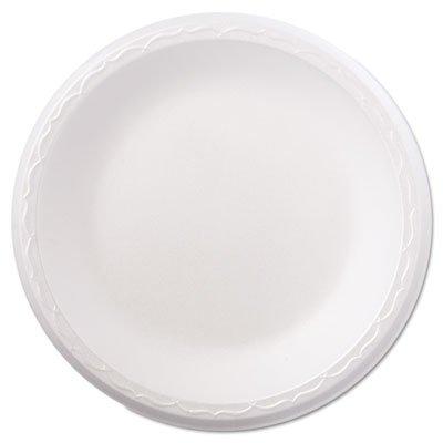 Foam Dinnerware, Plate, 8 7/8 Dia, White, 125/Pack, 4 Packs/Carton (2 Cartons)