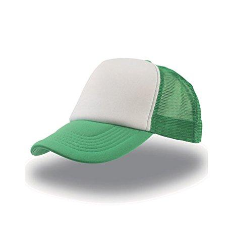 única Rapper trucker cap Gorra unisex Green rejilla White talla visera Atlantis qxFxBg