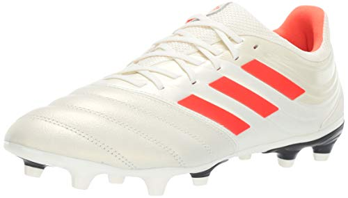 (adidas Men's Copa 19.3 Firm Ground, Off Off White/Solar red/Black 10.5 M)