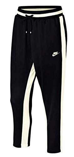 Nike Men's Sportswear Air Track Trousers Pants Black Sail Size Large