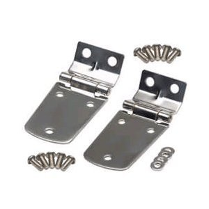 Kentrol Stainless Steel Hood Hinge 1997-2006 Jeep Wrangler TJ, TJ Unlimited # 30476