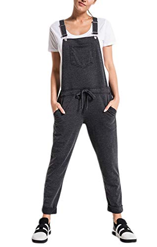(Z SUPPLY Women's The French Terry Overalls, Black,)