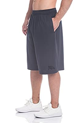 Above the rim Men's Core Basketball Short Lightweight Polyester Athletic Workout Gym Shorts