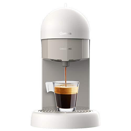Cecotec Cafetera express Cumbia Capricciosa White. 19 Bares de presión, Apta para café molido y cápsulas monodosis ESE…