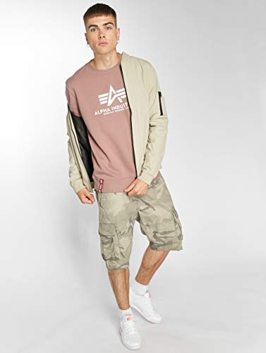 Basic Maglione Alpha Homme Pull Mauve wS75qS
