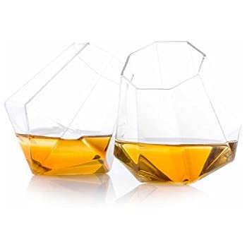 Thumbs Up Diamond Glass, Clear, Set of 2