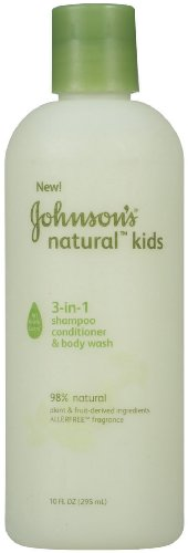 Johnson Enfants naturel 3-en-1 Shampoing, revitalisant et le corps, 10-Ounce (Pack de 2)