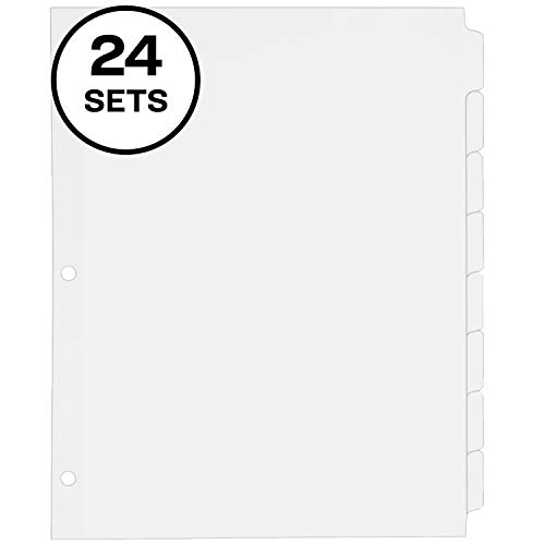 Avery 8-Tab Binder Dividers, Write-On Plain Tabs, 24 Sets (11507)