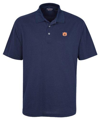 Auburn Tigers Ncaa Oxford (Oxford NCAA Men's Auburn Tigers 3-Button Polo with Hemmed Sleeves, Navy, XXX-Large)