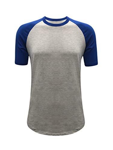 ILTEX Raglan Short Sleeve Baseball Style T-Shirt Adult Casual Wear (3X-Large, ()