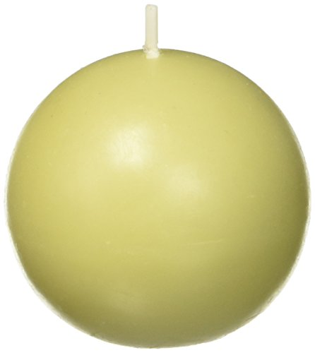 Zest Candle 12-Piece Ball Candles, 2-Inch, Sage Green