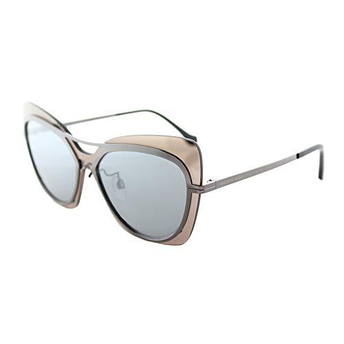 Balenciaga BA87 08C Womens Gunmetal/Gray/Black 57 mm Sunglasses