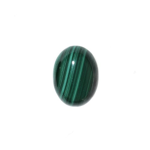 Malachite Gemstone Oval Flat-Back Cabochons 14x10mm (2 Pieces) (Oval Malachite)
