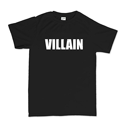 Mens Villain T-shirt 2XL Black