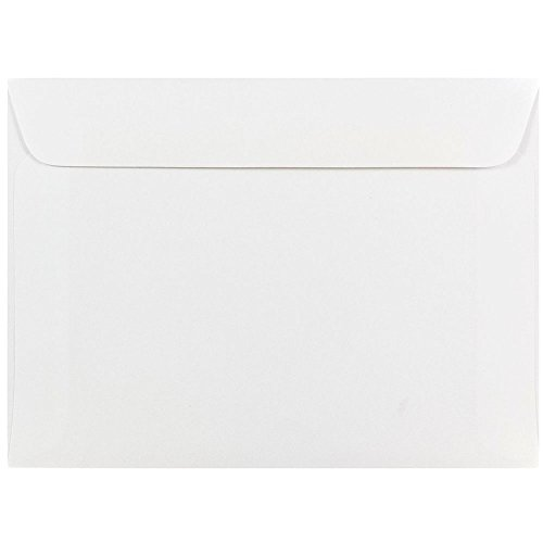 (JAM PAPER 5 1/2 x 7 1/2 Booklet Envelopes - White - 50/Pack)