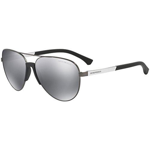 Emporio Armani Men's EA2059 EA/2059 3010/6G Matte Gunmetal Pilot Sunglasses 61mm