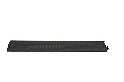 Elasco ED1010-BK Polyurethane Heavy Duty Drop Over Raceway Cable Ramp Protector Cover & Concealer, Single Channel, 4
