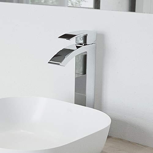 VIGO VG03007CH Duris Brass Bathroom Single Handle Seven Layer Plated Lavatory Vessel Faucet Chrome Finish for Vessel Sink