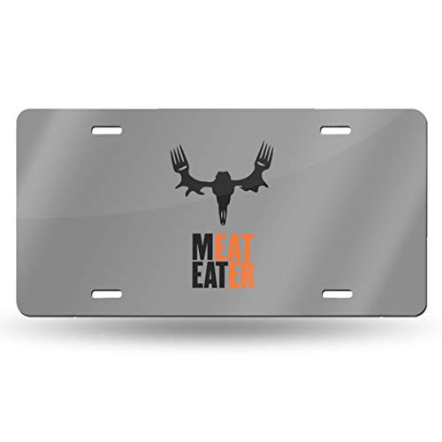 Homlife Personalized License Plate, Meat Eater Aluminum Novelty USA Car Tag, 6 X 12 Inches for Home Wall Art Decor