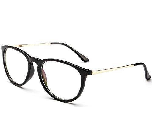 Metal Gafas Retro Óptica Gafas Marco Conducción Sol Polarizado Ronda De WFFH Black Moda xXptRfwx