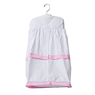 Baby Doll Medallion Crib Diaper Stacker, Pink