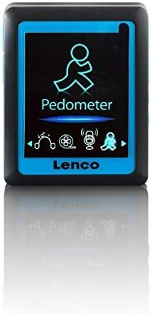 Lenco Mp4 Player Podo 152 Integriertem Schrittzähler 4 6 Cm Lcd Bildschirm 4gb Interne Speicher Sd Kartenslot Usb Blau Lenco Audio Hifi