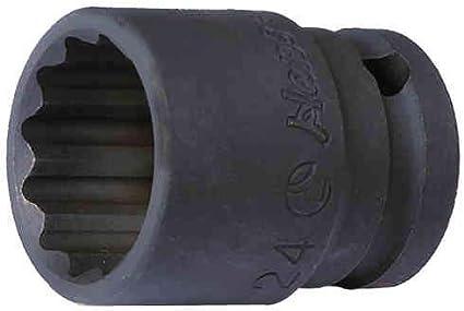 Hans 1//2 Zoll Kraft-Steckschl/üssel-Einsatz//Schlagschrauber-Nuss//Steck-Nuss//Kraft-Nuss 24mm, 6-kant, L/änge=42mm