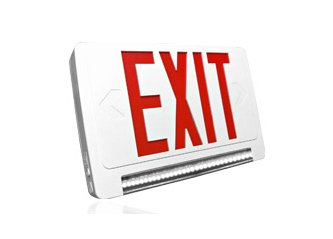 Thermoplastic All LED Light Bar Combo Exit Sign With Battery Back Up - Remote Head Capable
