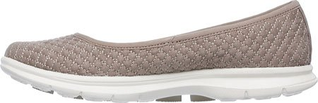Skechers Dames Gaan Step Perky Ballet Flat Taupe