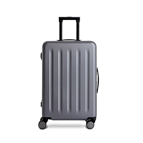 90FUN PC Aluminum Framed Suitcase Carry on Spinner Wheel Travel Gear Business Luggage Hardside Case,20 Inch, Grey Hardside Business Cases