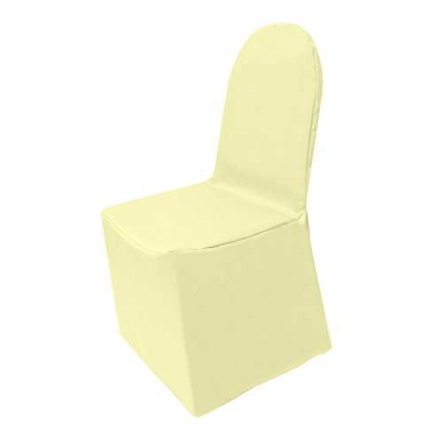 Ultimate Textile (10 Pack) Polyester Universal Chair Cover - for Wedding or Party use, Maize Light Yellow by Ultimate Textile
