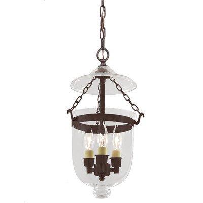 Small Bell Jar Pendant Lights - 5