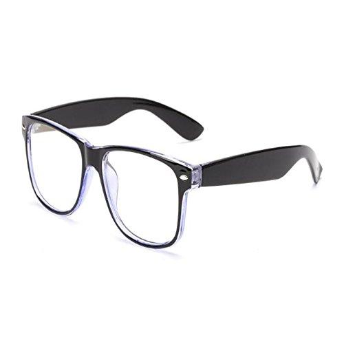 Claro de luz Anti Filtro Hombre azul Previniendo Gafas Xinvision ojos Computadora UV Azul Eyewear Lente Vintage fatiga Moda Negro Mujer Anti los w6YW4X