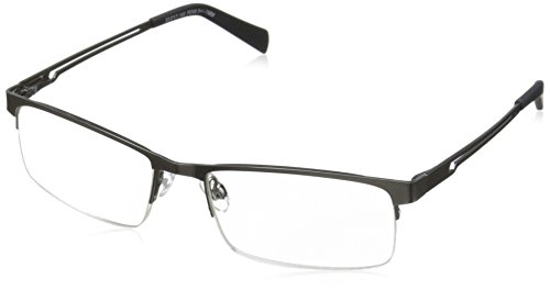 Foster Grant Men's Lamar PolarizedSquareReaders , Gunmetal ,2.75