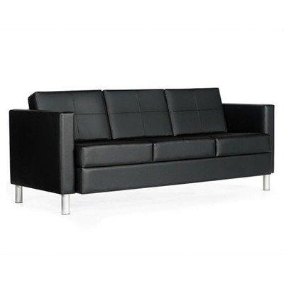 Global Citi Three-Seater Sofa in Black Mock