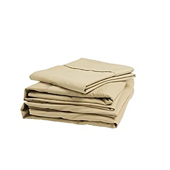Image of Home and Kitchen Denver 343511 RV Short Queen Size Sateen Sheet Set Latte