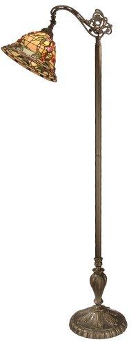 Lamp Brass Tiffany Antique Floor (Dale Tiffany TF50181 Bochner Downbridge Floor Lamp, 64