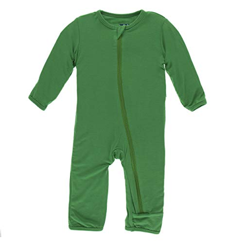 Kickee Pants Little Boys and Girls Solid Coverall with Zipper - Fern, 0-3 Months ()