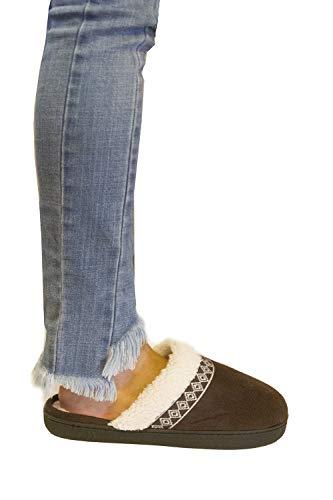 Slipper Chocolate Clog Microsuede Women's Ariana Dark ISOTONER Uw6p4WZq7x